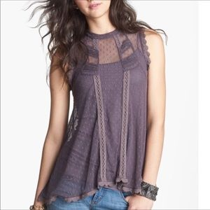 Free People Fiona's Victorian Mesh Top